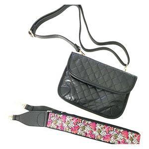 Handbags - Guitar Strap, Crossbody, Shoulder & Belt Bag Black